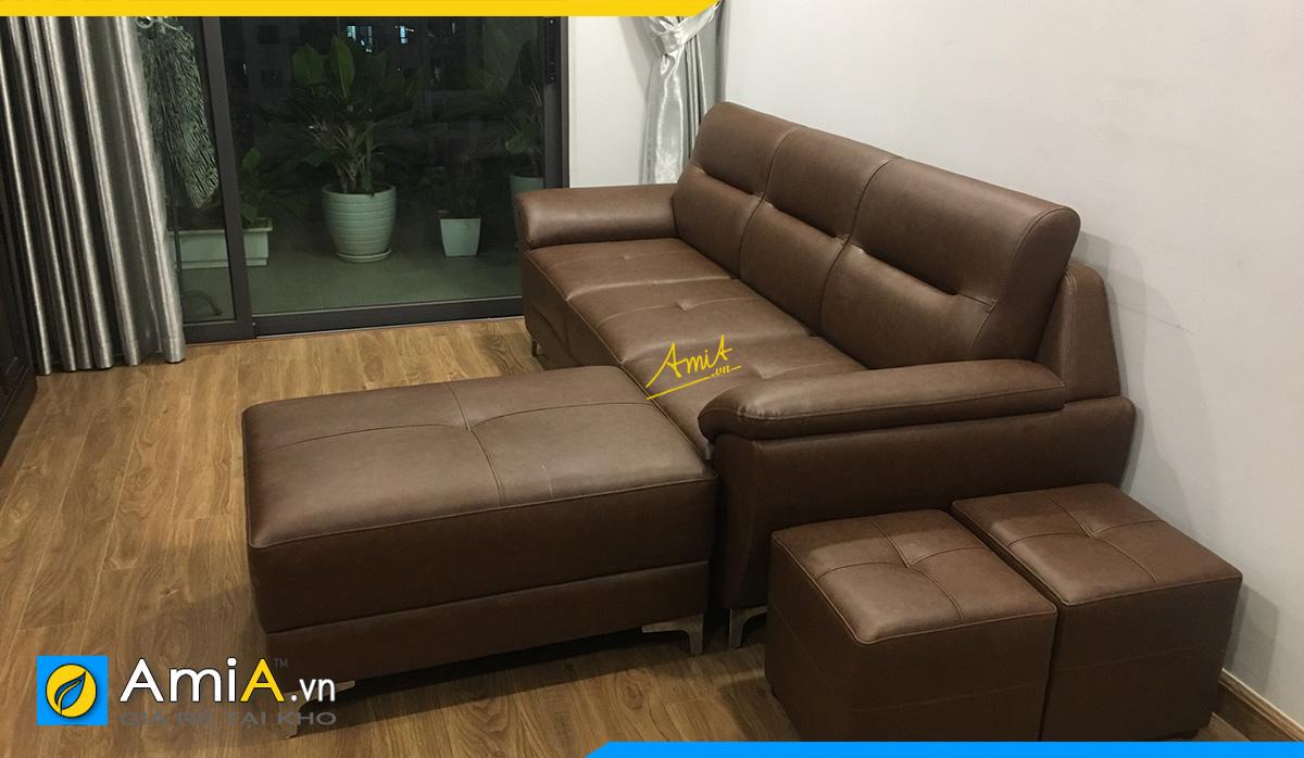 Mẫu ghế sofa góc có phần chữ L tách rời- có thể linh hoạt thay đổi góc trái góc phải cho không gian kê