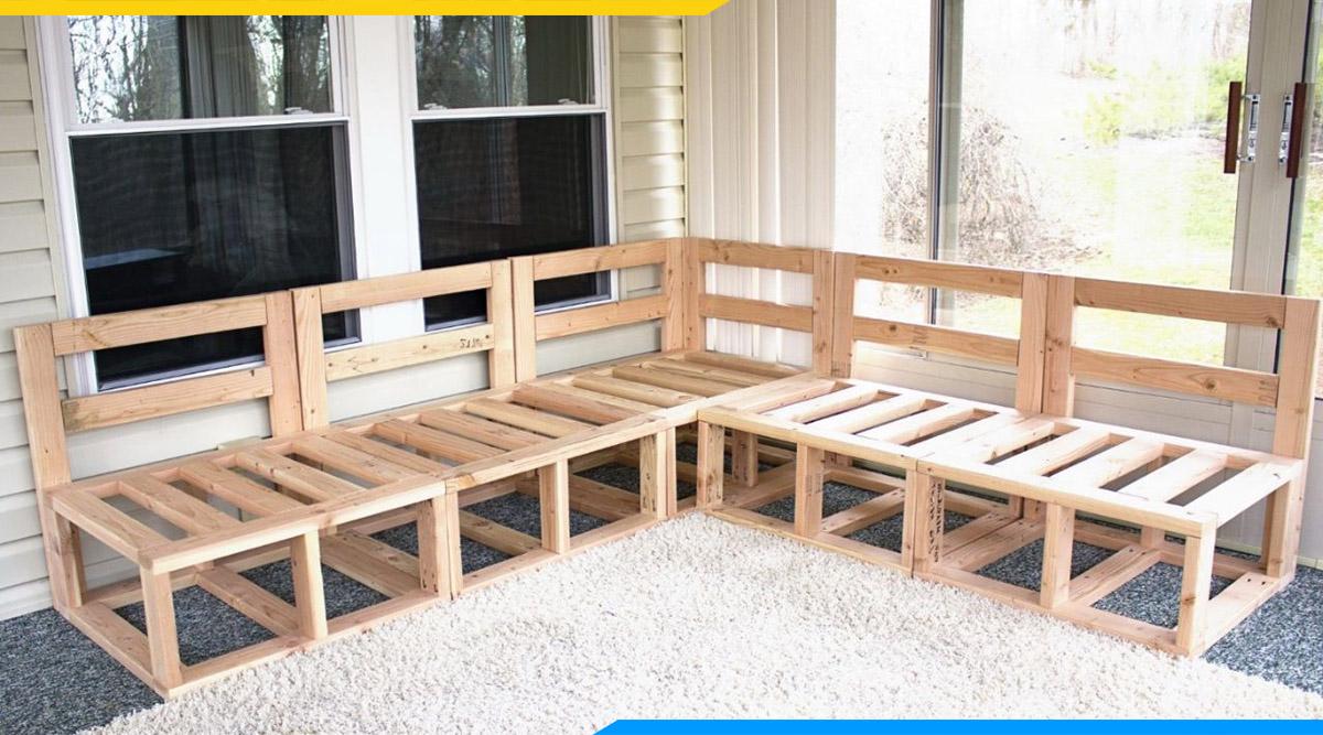 Ghế sofa gỗ dạng góc đẹp, tận dụng không gian tối ưu nhất