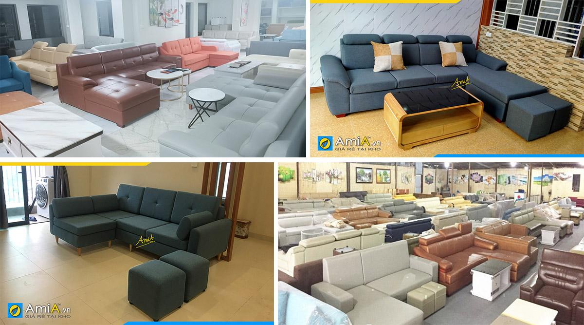 Cửa hàng bán sofa góc vải nỉ giá rẻ- chất lượng dành cho bạn