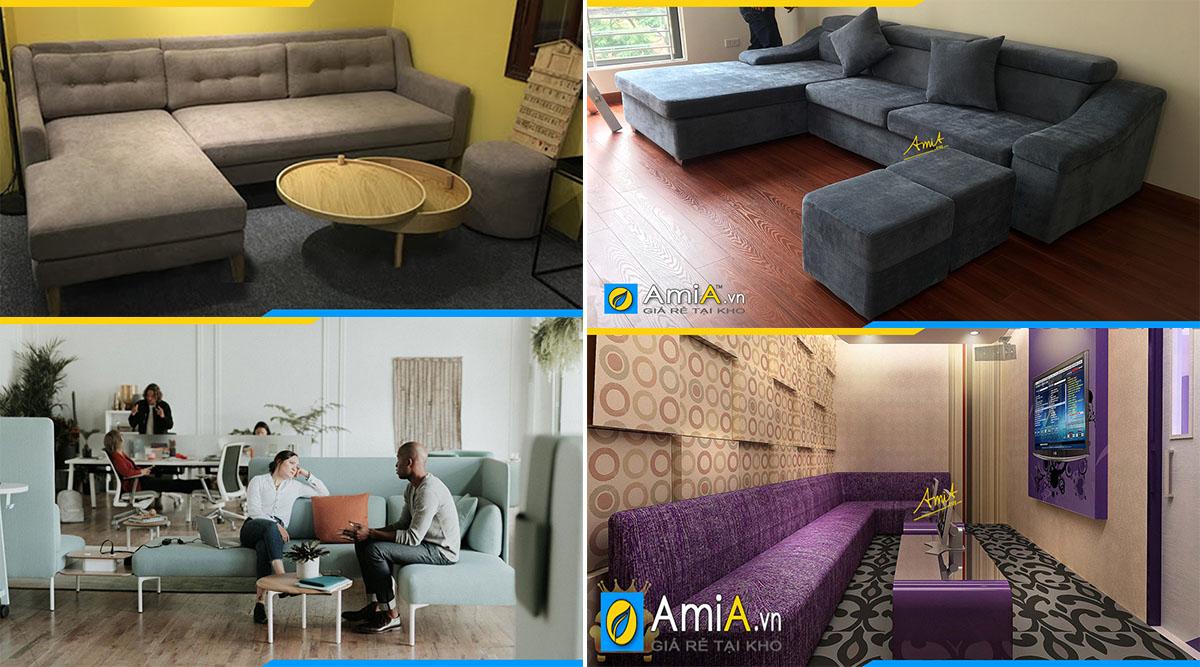 Nhu cầu sử dụng sofa góc vải nỉ thích hợp ở mọi không gian