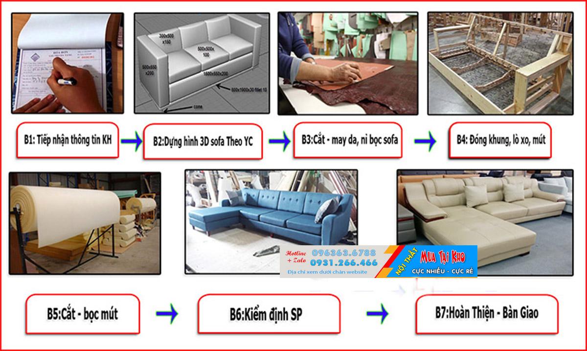 Xưởng sản xuất sofa góc chữ L