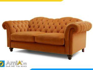 hình ảnh ghế sofa văng nỉ kiểu dáng tân cổ điển sang trọng