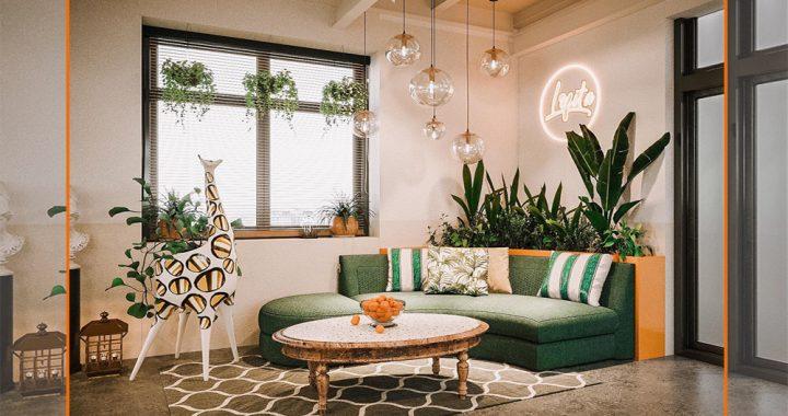 sofa góc quán cafe đẹp